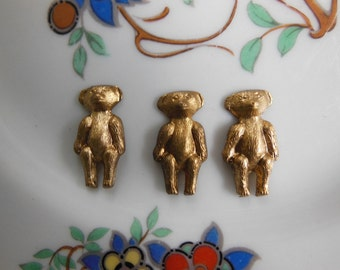 Brass Teddy Bears ( 4 pc)