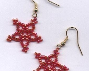 SALE! STAR Beaded Earrings - Choose Color!