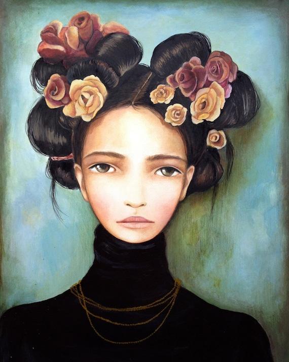 Roses and Rosa art print