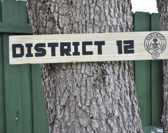Hunger Games District 12 Outdoor Yard Sign