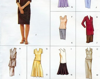 Vogue Easy Options Pattern 2469 Misses/Misses Petite Top & Skirt 6-10 UNCUT
