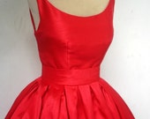 A Gorgeous Red Shantung 50s cocktail dress, made to order