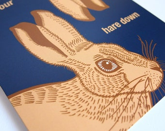Let Your Hare Down Celebration Greeting Card
