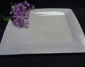 Ceramic Plate, Ceramic Platter, White Plate, White Platter, Ceramic Serving Dish, Ceramic Serving Platter, White Serving Platter, White Dish