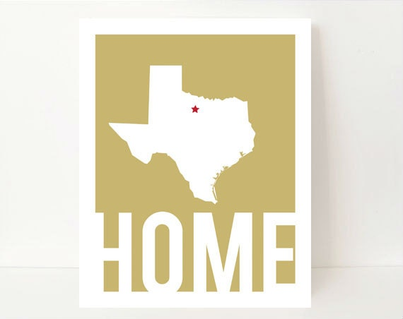 Items Similar To Home Decor Wall Art Texas Art Print