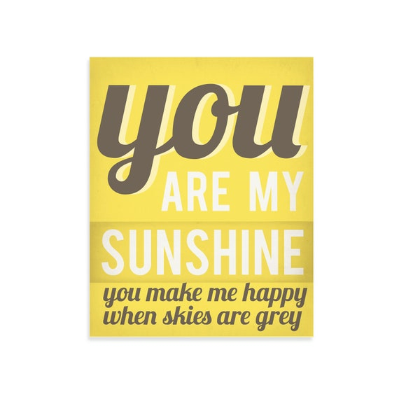 You Are My Sunshine Wall Art - Gift For Kids - Gift For Mom - Kids Room Art - Kids Room Wall Art - Kids Room Wall Decor - Nursery Wall Art