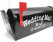 Custom Wedding Card Mailbox - Wedding Card Box - Monogrammed Letter Box -  Wedding Reception Card Box
