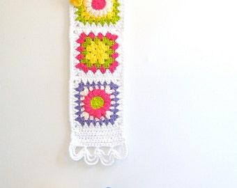 handmade baby gift crochet wall hanging