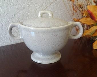 Vintage Laurel of California Pottery Speckled Sugar Bowl