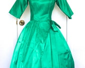 Reserve - Lorrie Deb Emerald Green Vintage Bouffant Party Dress