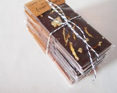 Set of 6 Organic Fair Trade Chocolate Bars Small Batch Artisan Made