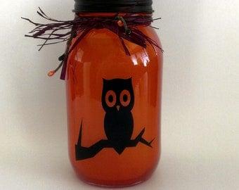 Owl solar powered lid lights