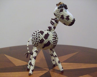 Giraffe - Beaded Folk Art