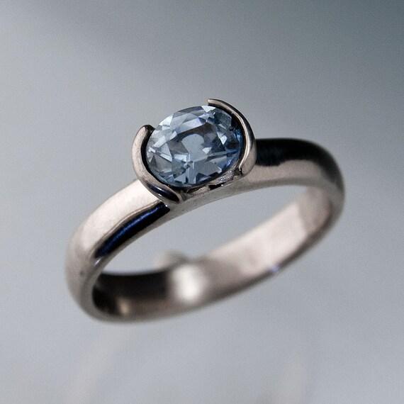 Oval Light Blue Montana Sapphire Engagement by NodeformWeddings