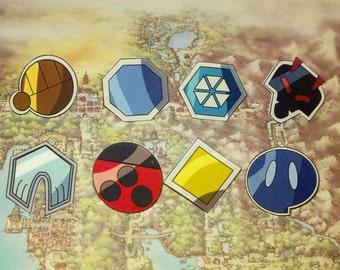 Johto Region Badges - Pokemon Gold/Silver/Crystal/HeartGold/SoulSilver
