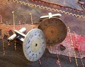 Steampunk Cufflinks, Vintage Watch Parts