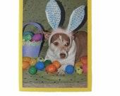 Blank Easter Card, Bunny Rabbit Card, Dog Easter Card
