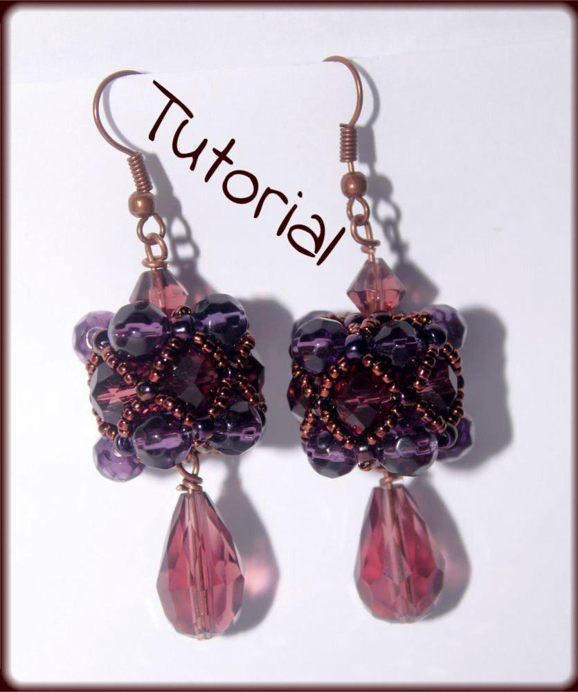 beading pattern pdf beaded bead cluster earrings beading