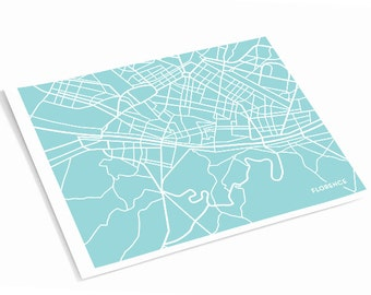 Florence City Map Art Print / Florence Italy Poster Art  / 8x10 Digital Print / Choose your color