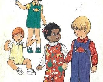 PATTERN Simplicity 7322 Toddler Romper Jumpsuit and shirt Size 3 Vintage (uncut)
