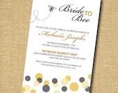 Bride To Bee: Printable Bridal Shower Invitation