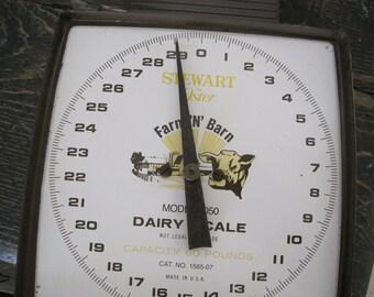 Vintage Dairy Scale - Advertising Oster Farm N Barn - Model 8050