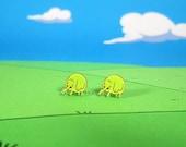 Adventure Time Earrings Tree Trunks