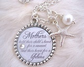 MOTHER of the BRIDE Gift Mother of Groom Bride To Be Gift Inspirational quote necklace BEACH Wedding Beach Jewelry Bride Mothers Day Gift