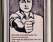 Iowa: Quaker Oats, populist art, illustration, advertising,  circus, blank card