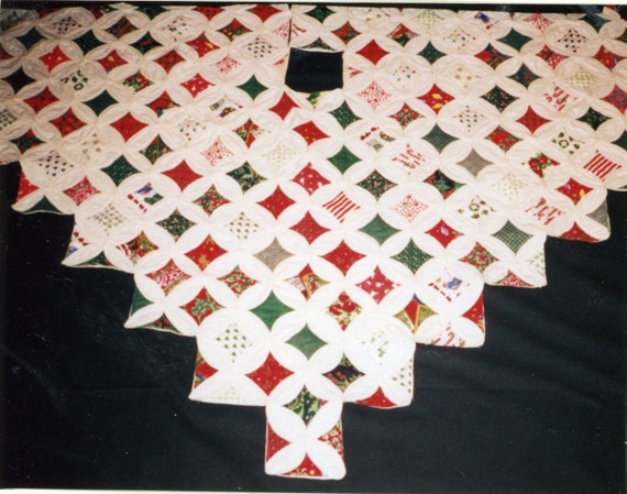Christmas Tree Skirt Quilt Pattern Cathedral Windows Susan T