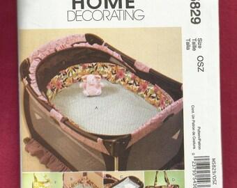 McCalls 5829 Baby Accessories  Playpen Bumpers Diaper Bag Insulated Food & Bottle Bag  UNCUT