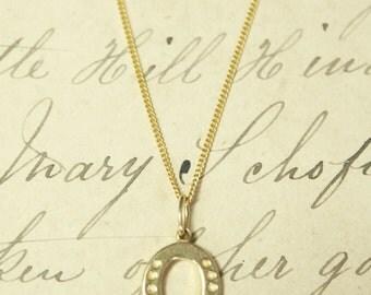 Horseshoe 22ct Gold Vermeil Talisman Charm Necklace