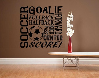 wall decal kids Subway style Soccer decal kids decor nursery decal sport decal boy decal home decor decal for men wall decal living room