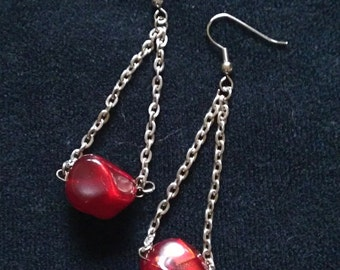Drop of Blood Earrings