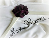 Engagment Gift For Daughter Getting Married, Custom Hanger With Satin Flower