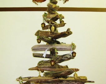 """6'7"""" driftwood tree with base"""