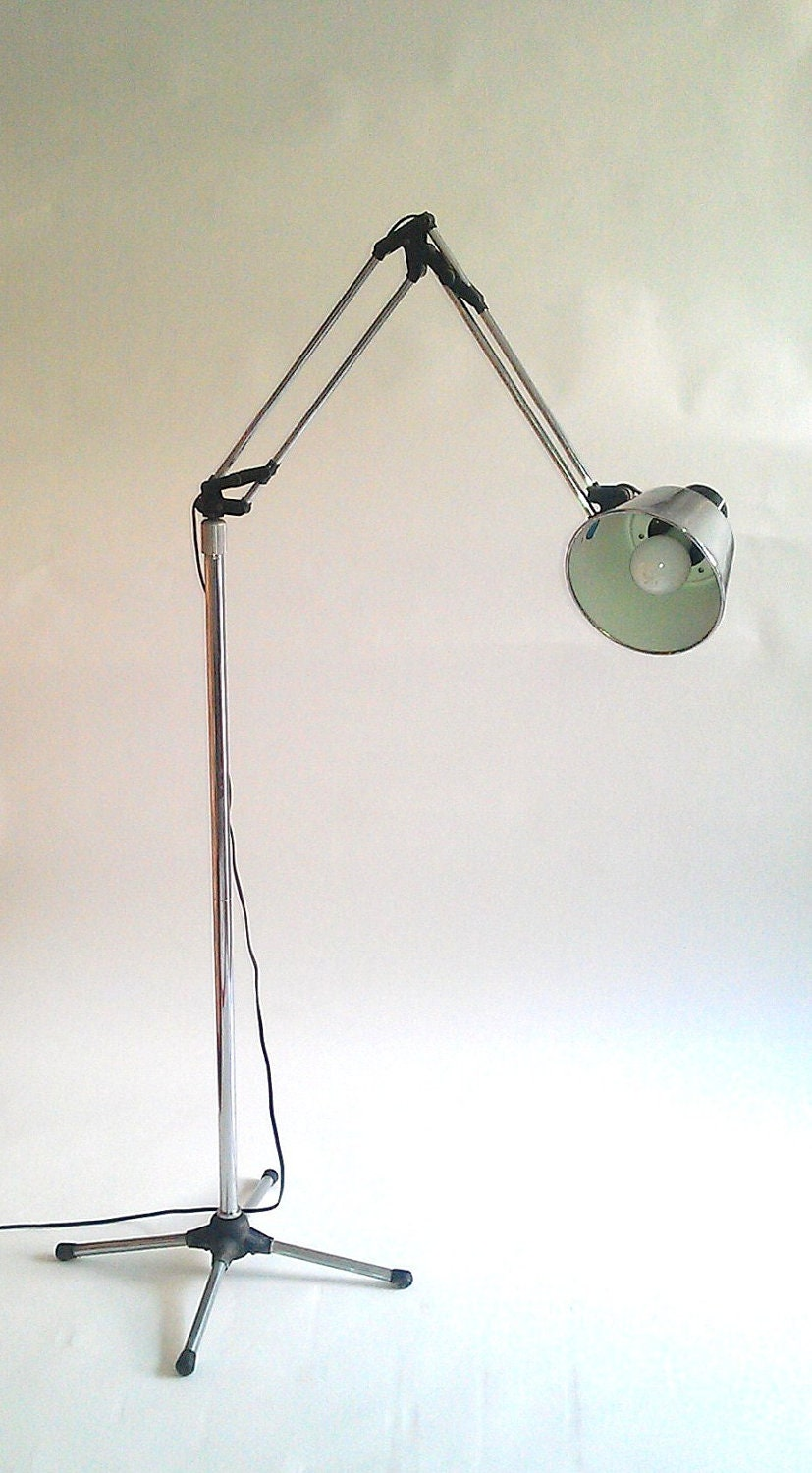 Industrial Articulating Floor Lamp by TimandKimShow on Etsy