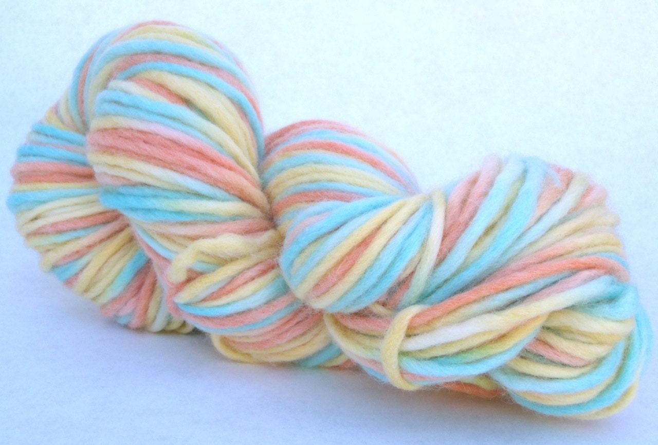 Variegated Yarn : Hand dyed variegated yarn chunky wool yarn by OystercatcherYarns