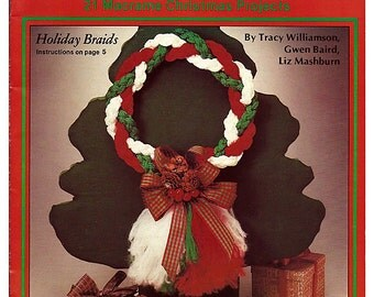 Macrame a Merry Christmas  Macrame Pattern Book Plaid 7458