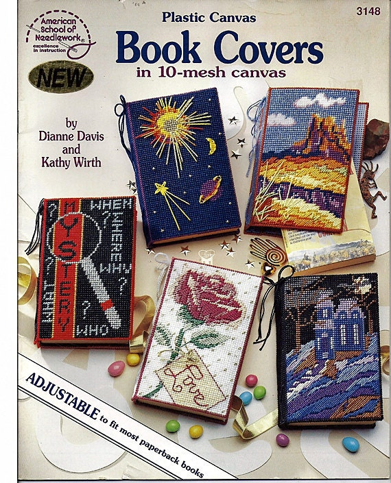 Plastic Canvas Book Cover Patterns : Book covers in mesh plastic canvas pattern american school