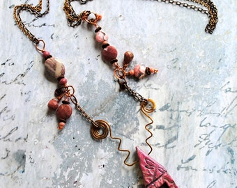 Pink Dragonfly House, house, home, mixed metals, semi precious stones, eclectic design, one of a kind