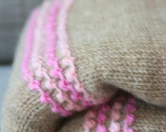 knitting blanket how to get straight border side