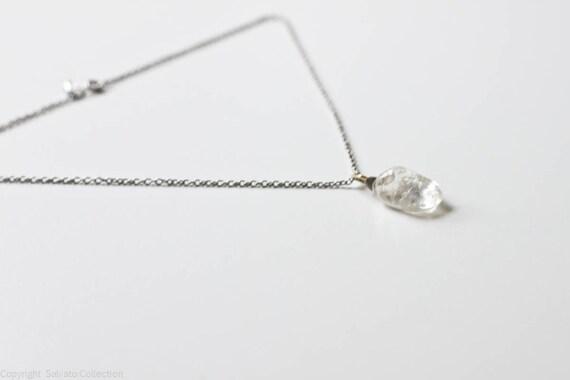 Vintage Crystal Quartz Pendent on Chain