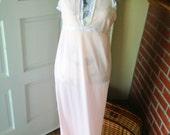 Gorgeous Vintage Pink Slip Maxi Dress