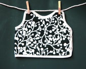 Black and White Bib Girl Clothing Boutique Baby and Toddler Eco-friendly Gift