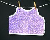 Purple Baby and Toddler Girl Bib Daisy Spring Flower Print Eco-Friendly