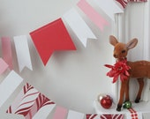 holiday christmas peppermint garland pink red and white - chiarabelle