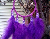 Purple Handmade  Dream Catcher (Limited Edition) - Purple Feathers