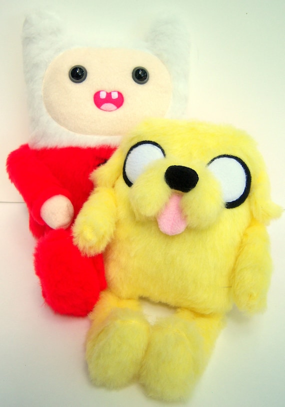 Finn and Jake Plush -- Best Friend Babies, Adventure Time Finn, Jake, very limited edition Baby Jake