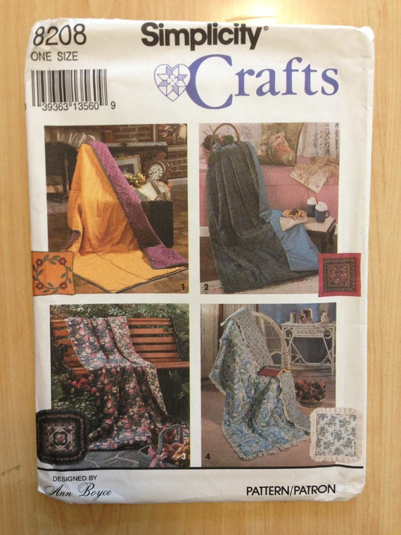 Simplicity 90s Crafts Sewing Pattern 8208 Pillow in a Quilt UNCUT Sale